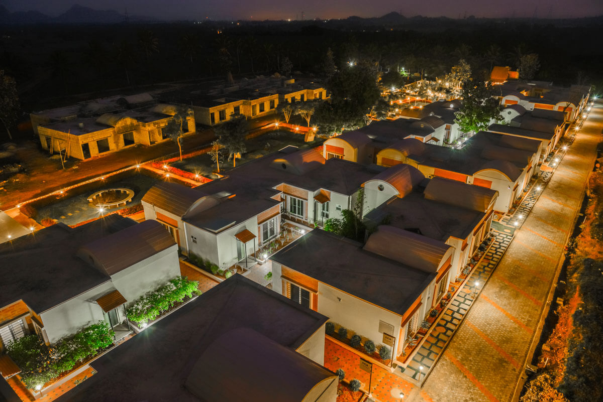 Top View of Cottage Cluster - Sree Senior Homes