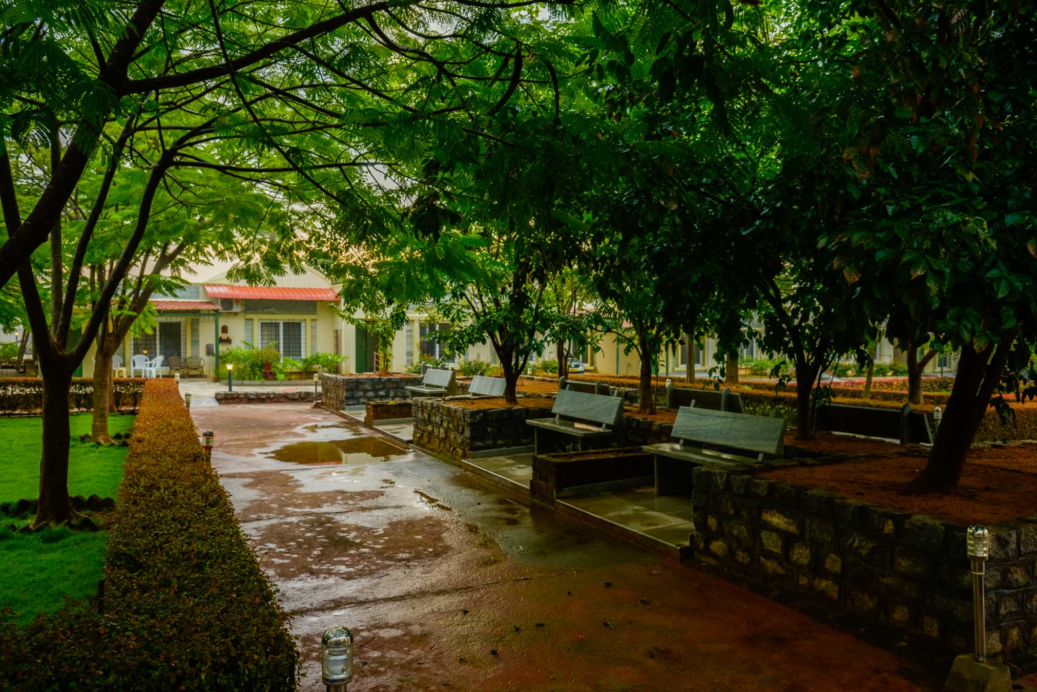 Outdoor Garden Bench in Sharadindu - Sree Senior Homes