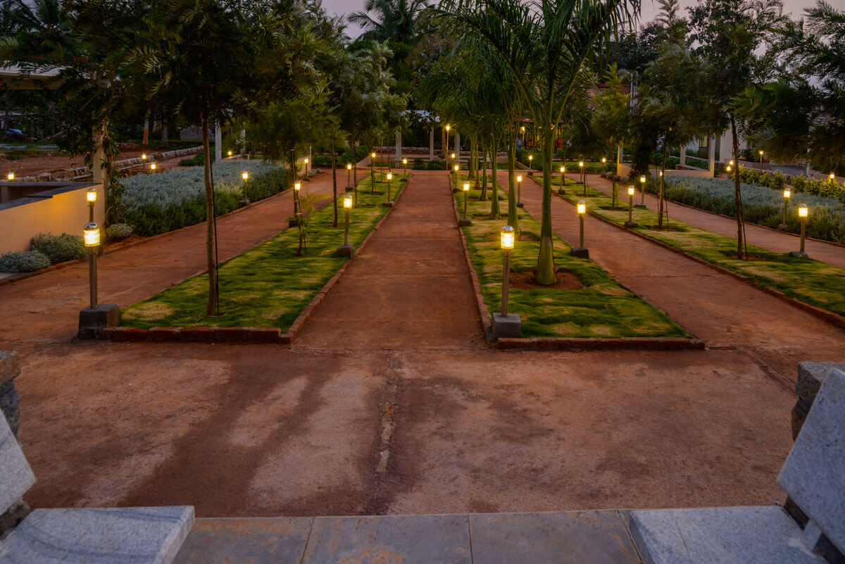 Garden Lighting and Pathway - Sree Senior Homes